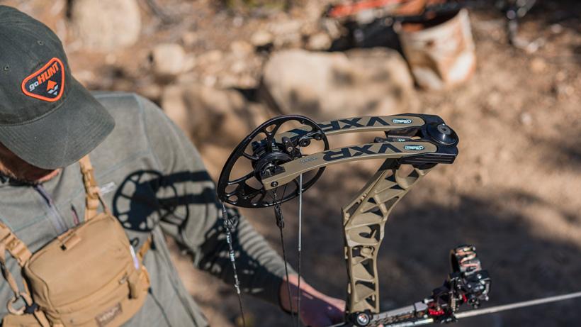 Trail Kreitzer shooting Mathews VXR 31.5 bow