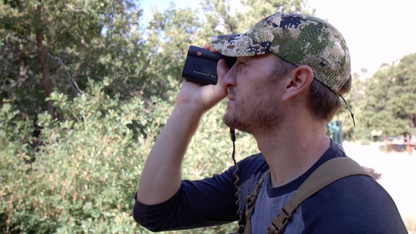 Trail Kreitzer using his Leica rangefinder