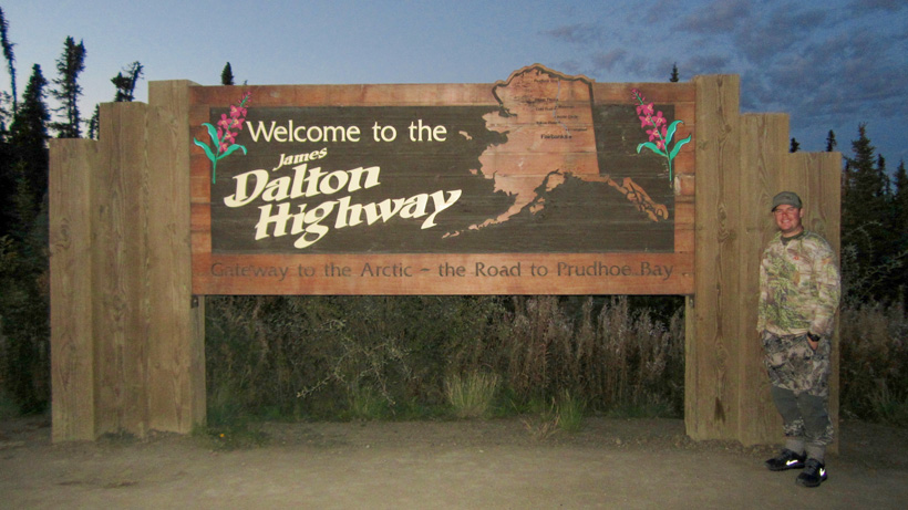Traveling along the Dalton Highway in Alaska
