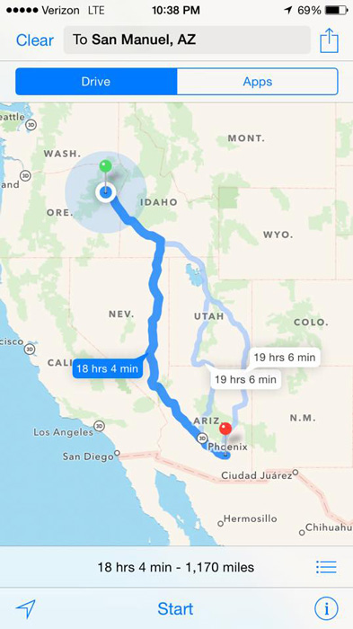 Traveling from Oregon to Arizona to bowhunt