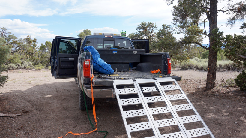 Truck organization for frontcountry elk hunting