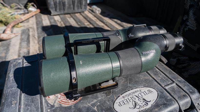 Twin Swarovski spotting scope bracket
