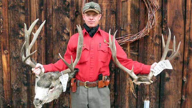Two poached mule deer bucks in Wyoming