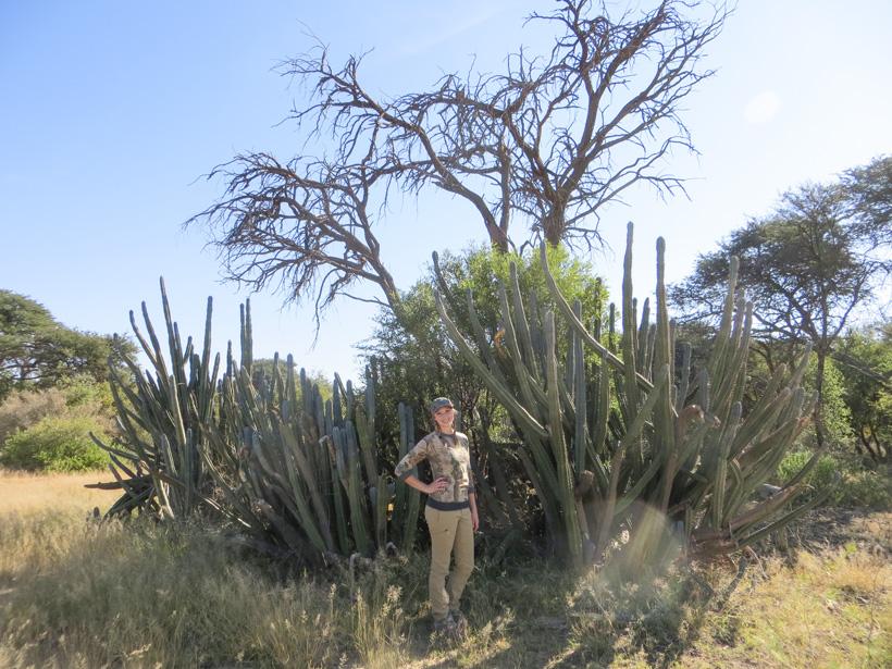 Tyler Cantrell near giant cactus