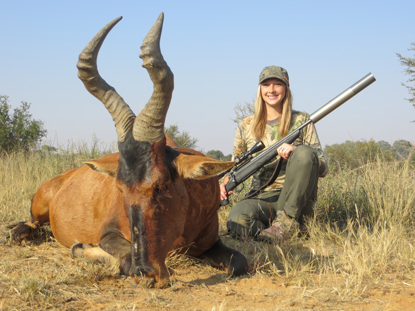Tyler Cantrell with her Hartebeest