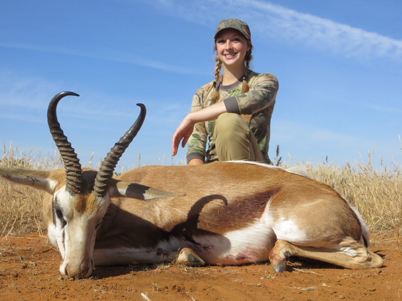 Tyler Cantrells springbok from Africa