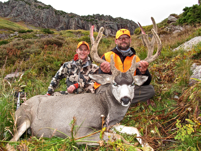 Tyler Preszler and Kyle with his Colorado mule deer