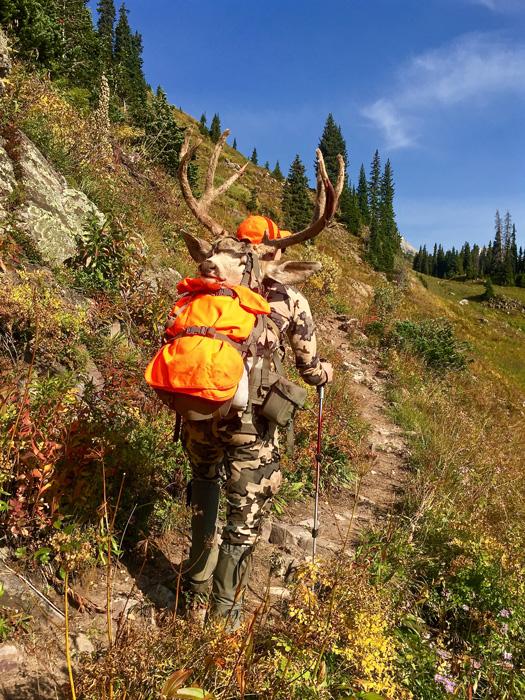 Tyler Preszler packing out his 2015 Colorado mule deer