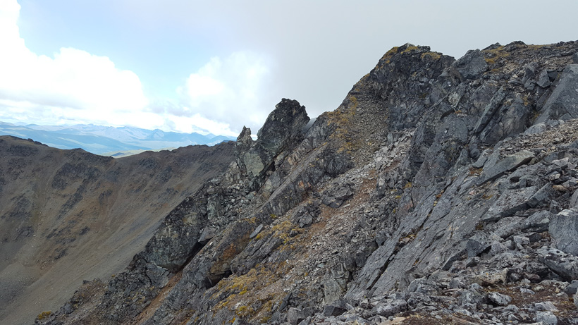 Typical rocky terrain while hunting Dall sheep