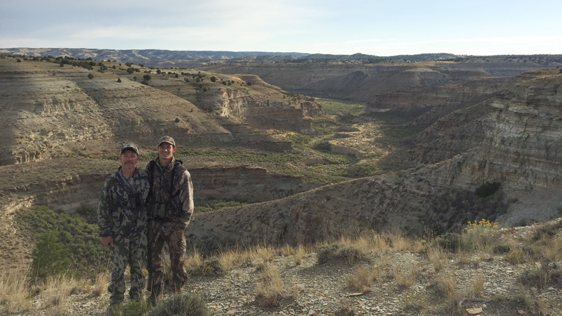 Utah elk hunting scenery in the Book Cliffs