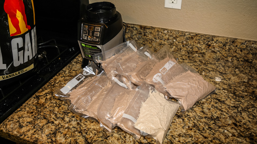 Vacuum sealed breakfast protein shake