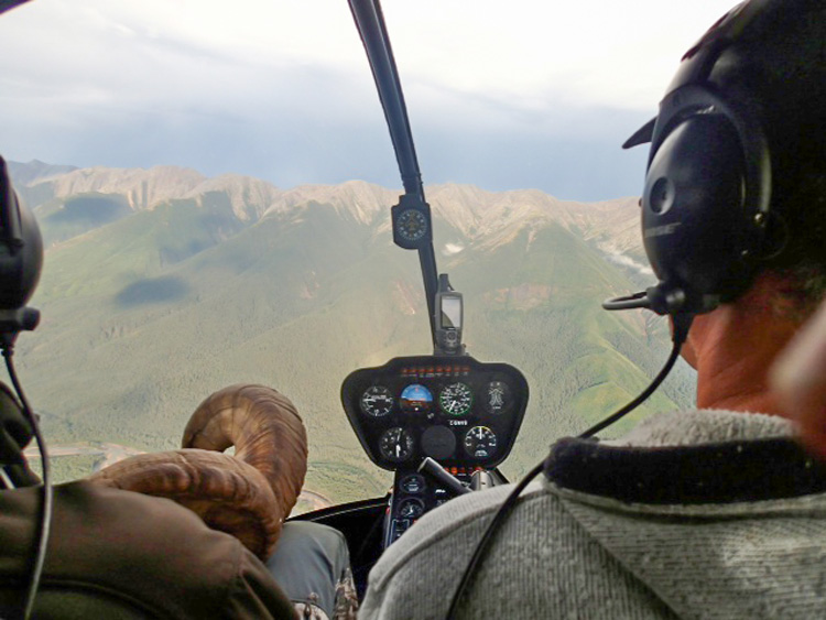 View from the helicopter after the hunt