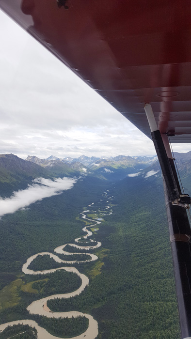 View from the Super Cub plane