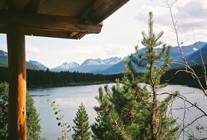 View from the lodge in BC