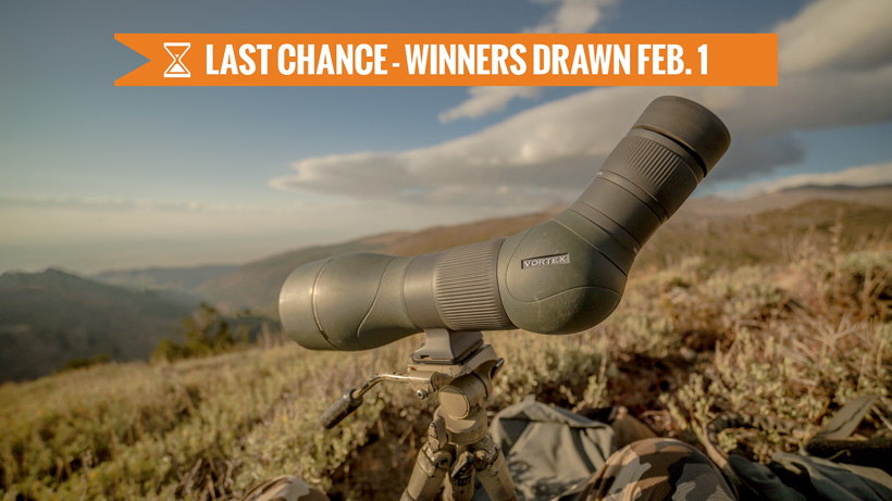 January Vortex Razor HD spotting scope giveaway last chance