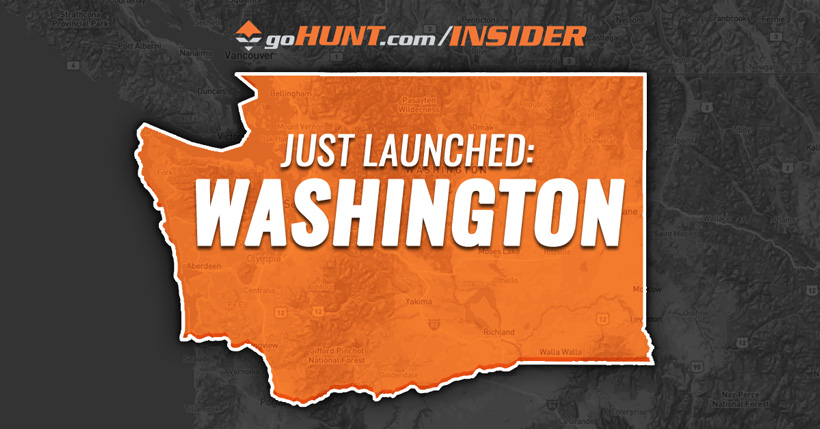 Washington hunting research data now live on goHUNT INSIDER