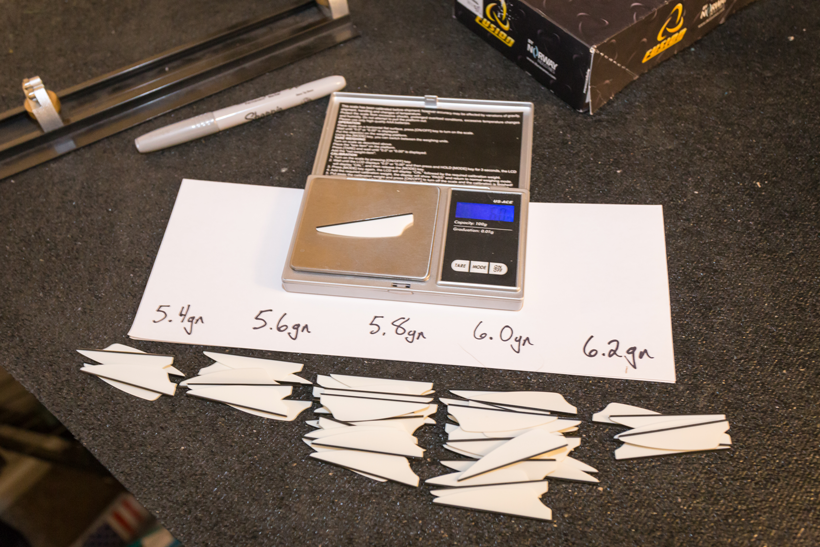 Weighing and sorting vanes