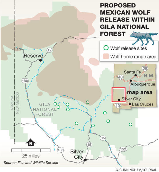Wolf release locations