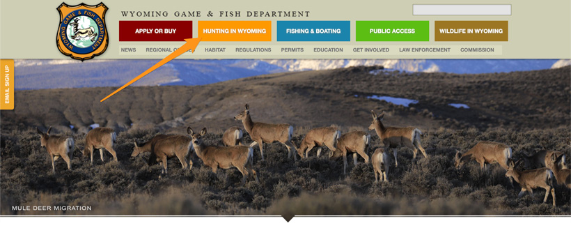 Wyoming Game and Fish Department homepage