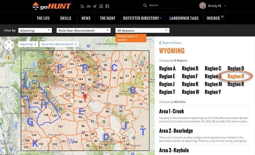 Wyoming Region breakdown
