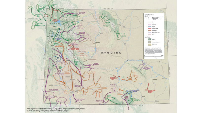 Wyoming big game migration routes