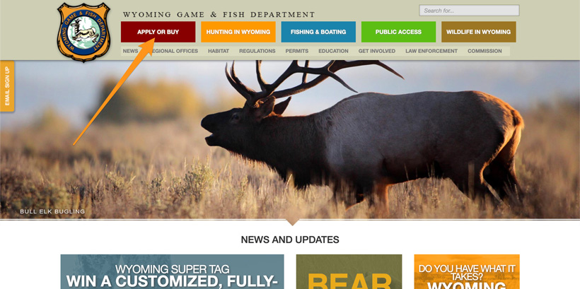 Wyoming game and fish homepage to buy preference points