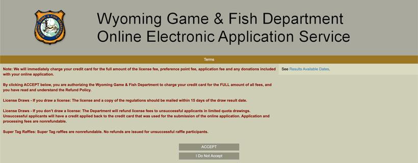 Wyoming game and fish hunting authorization