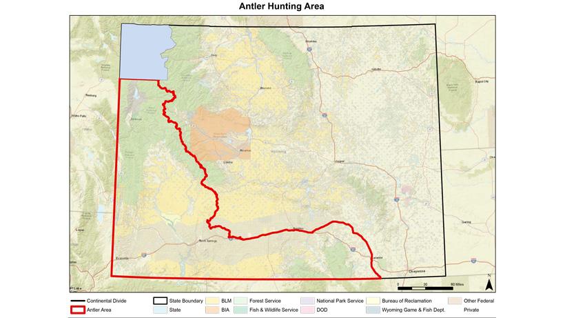 Wyoming shed antler map zone 2020