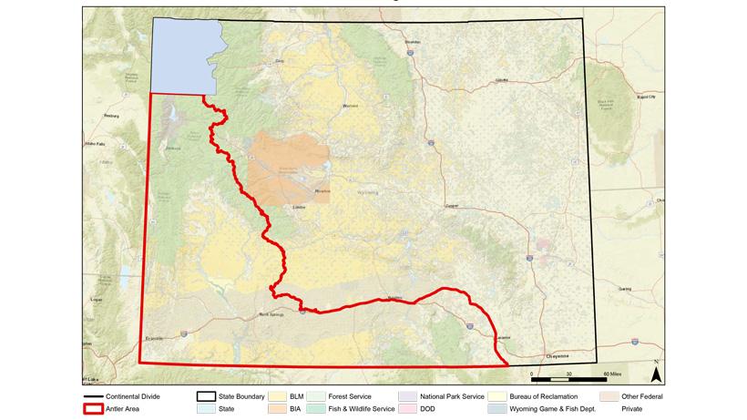 Wyoming statewide antler map