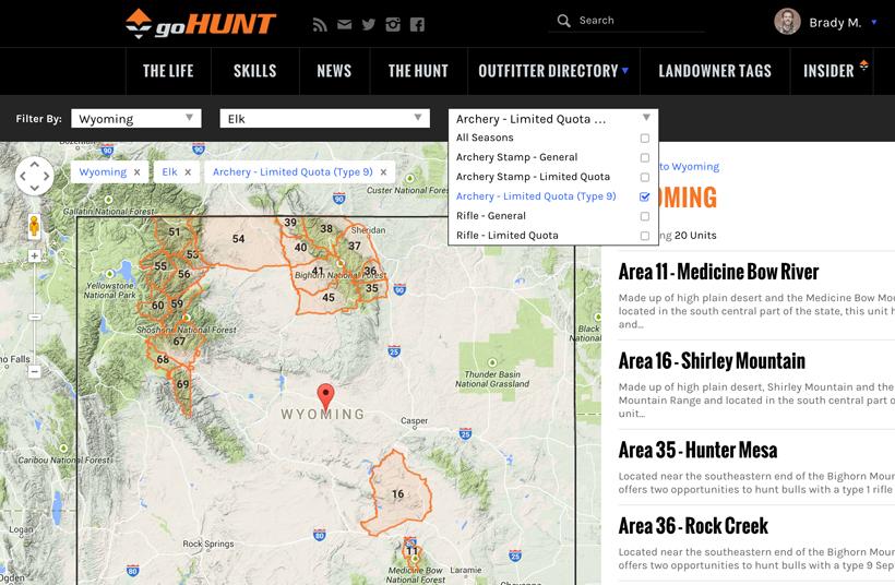 Wyoming unit filtering
