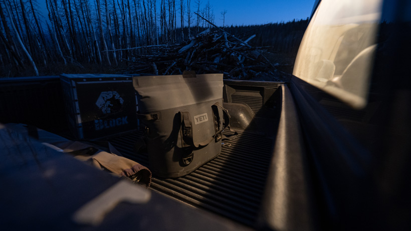 YETI Hopper M30 Soft Cooler scouting for mule deer