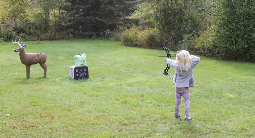 Youth archery practice