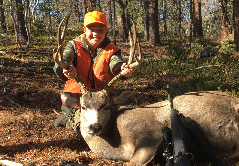 Youth hunter first buck in Colorado