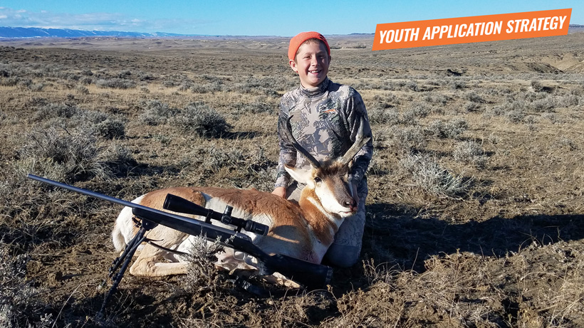 Youth hunter with his Wyoming antelope