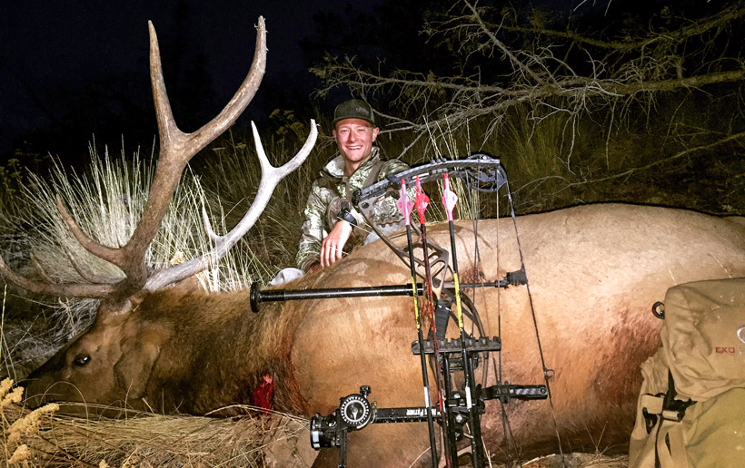 Zach Henderson with his 2015 archery bull elk from Oregon