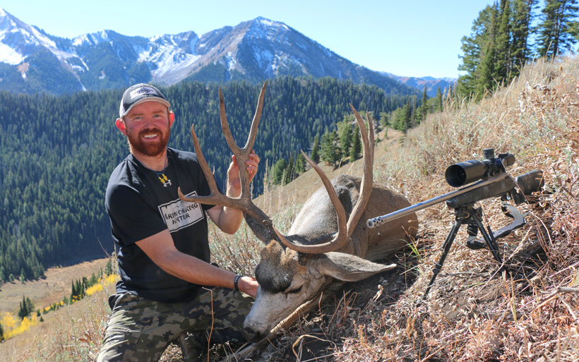 Zach Kenner with his 2016 Wyoming mule deer