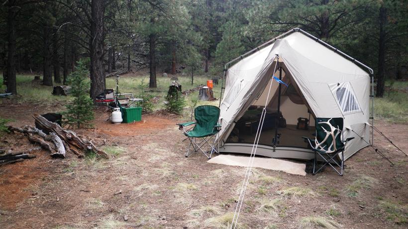 Arizona elk camp