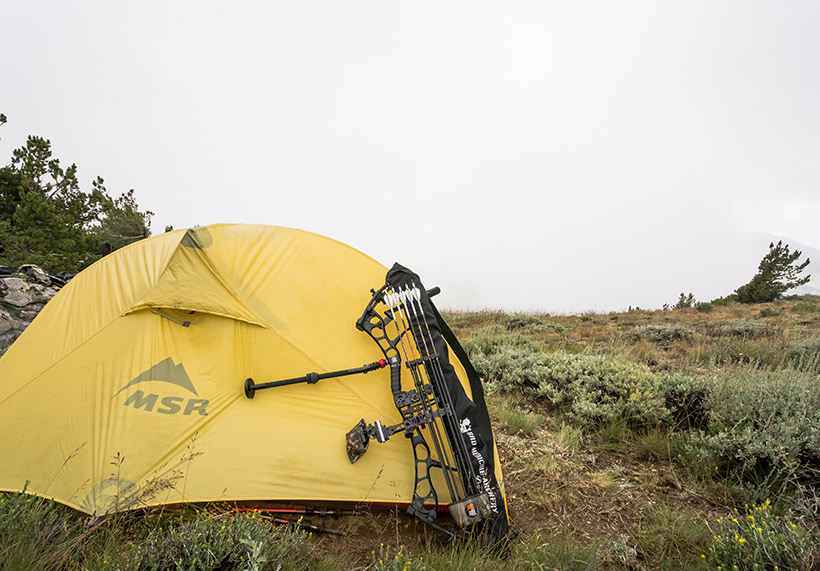 Backcountry tent and bow
