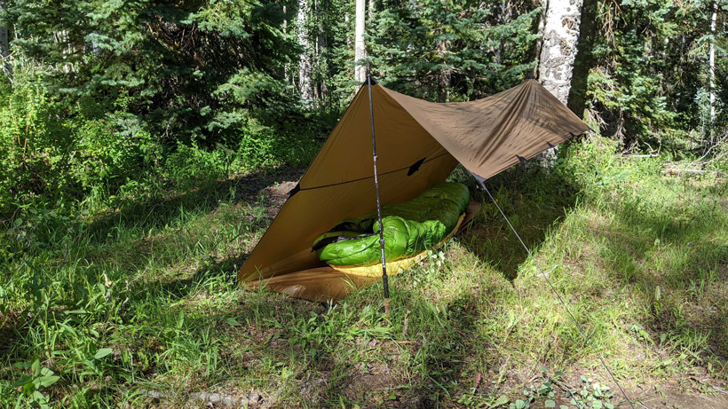 C-Fly tarp set up