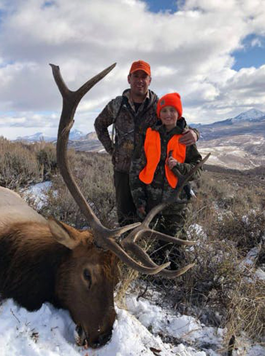 John Gegen and his elk