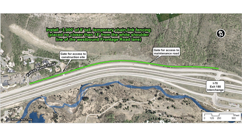 A map of the proposed fence line to keep the East Vail bighorn herd from accessing roadways.