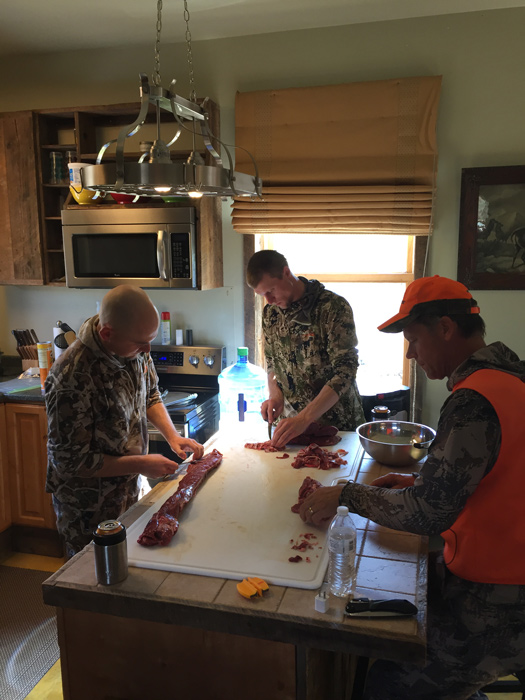 Processing mule deer meat