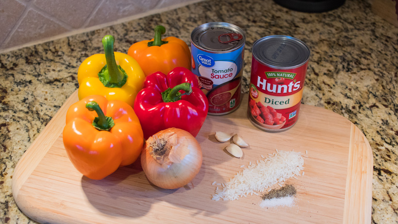 Grocery list for the stuffed peppers
