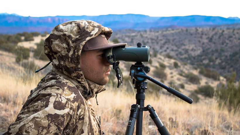 Glassing with your binoculars on a tripod
