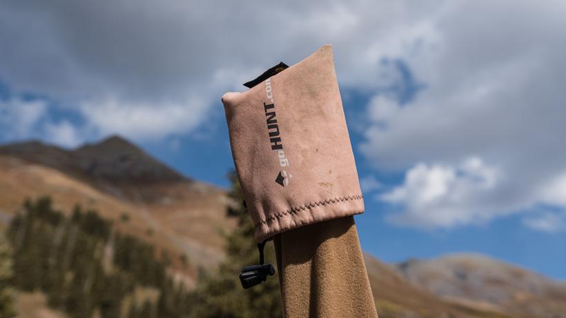 goHUNT Gunslicker protective cover on muzzleloader