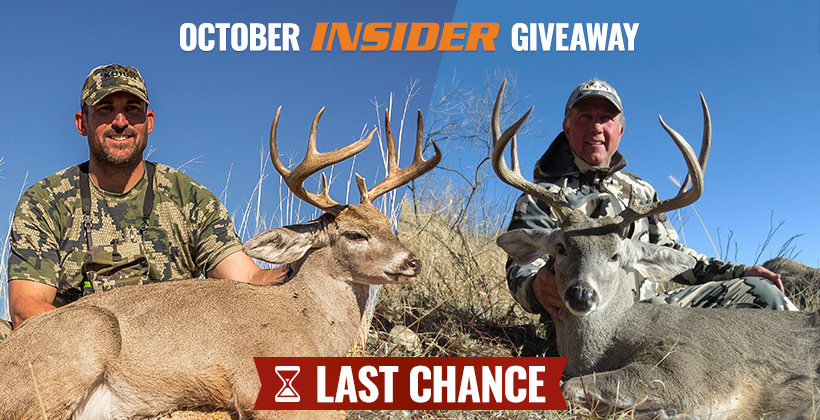 October INSIDER Coues deer hunt giveaway last chance