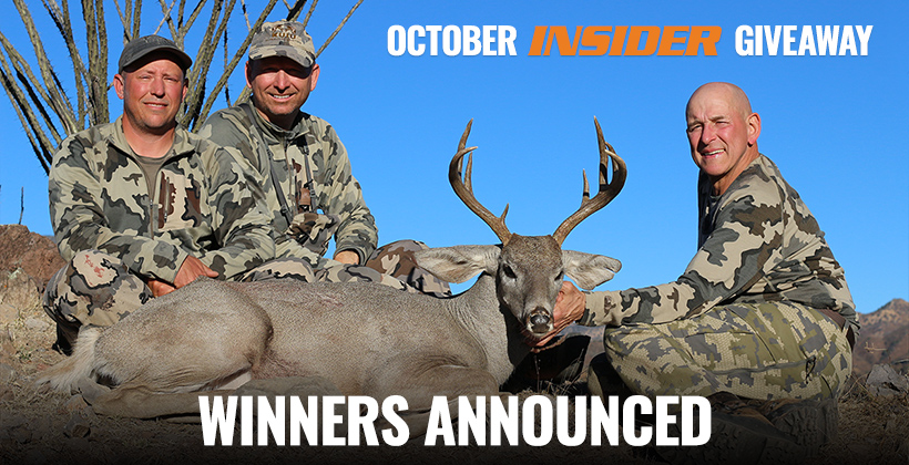 goHUNT INSIDER October Coues deer winners announced