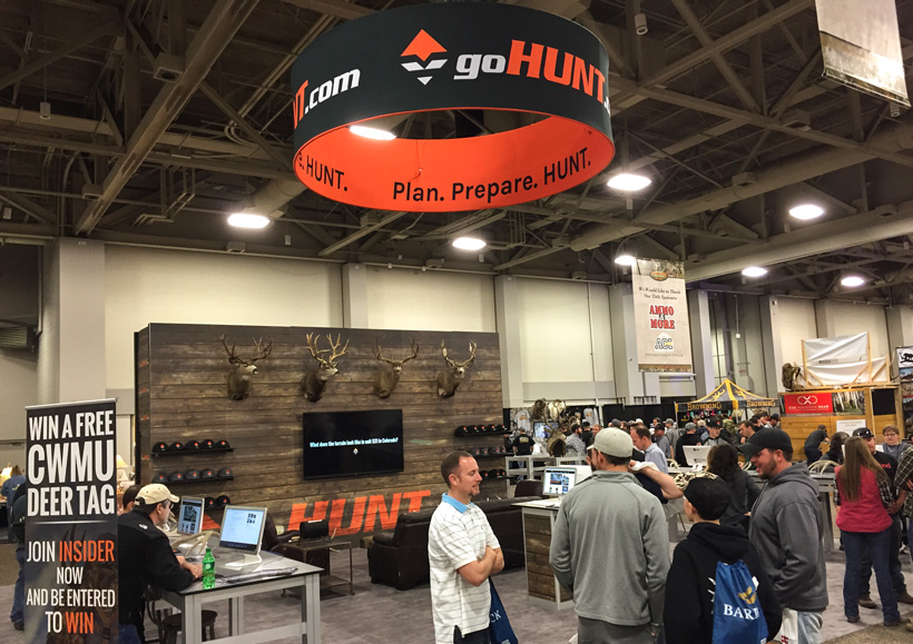 goHUNT booth at Western Hunting Expo