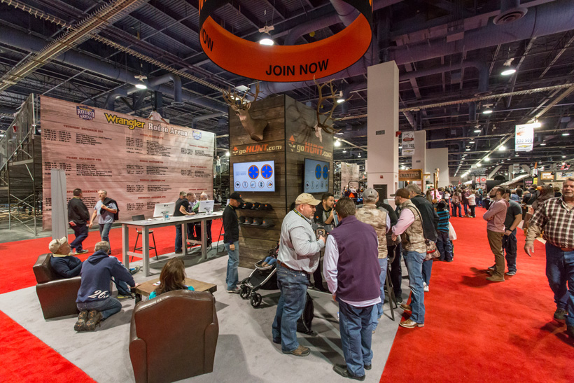 goHUNT both at Rocky Mountain Elk Foundation trade show