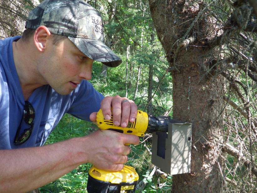 Securing trail camera